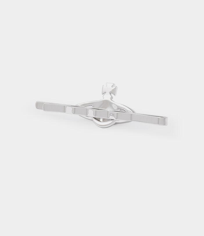 Mini Bas Relief Tie Clip Silver-Tone 3