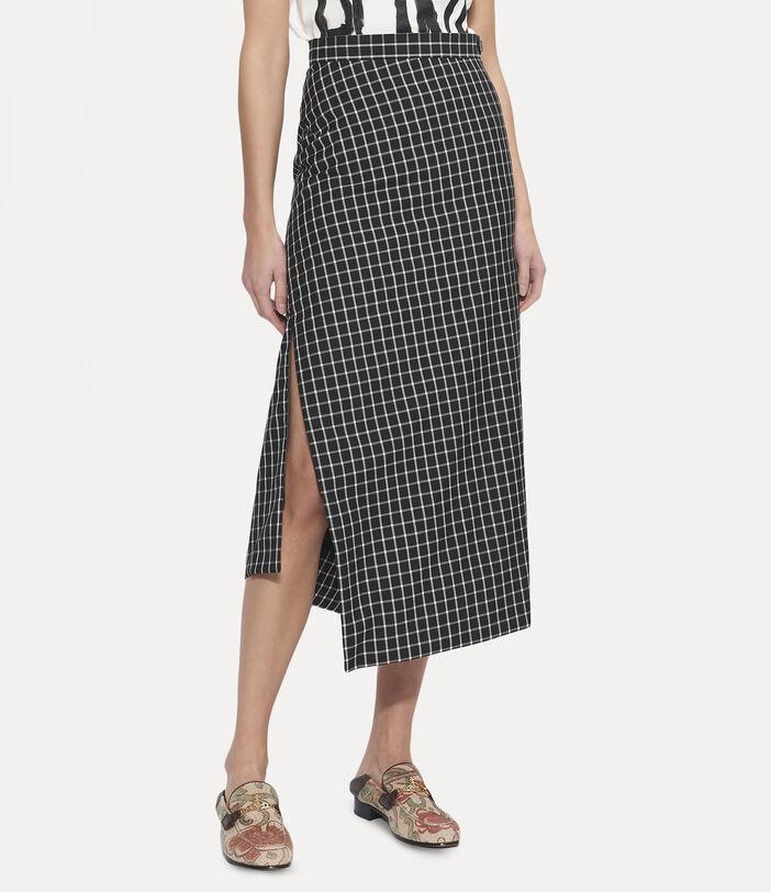 Midi Infinity Skirt Black Small Check 4