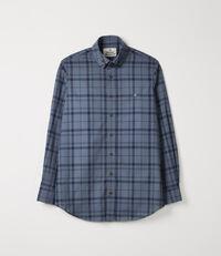 Two Button Krall Shirt Blue Tartan