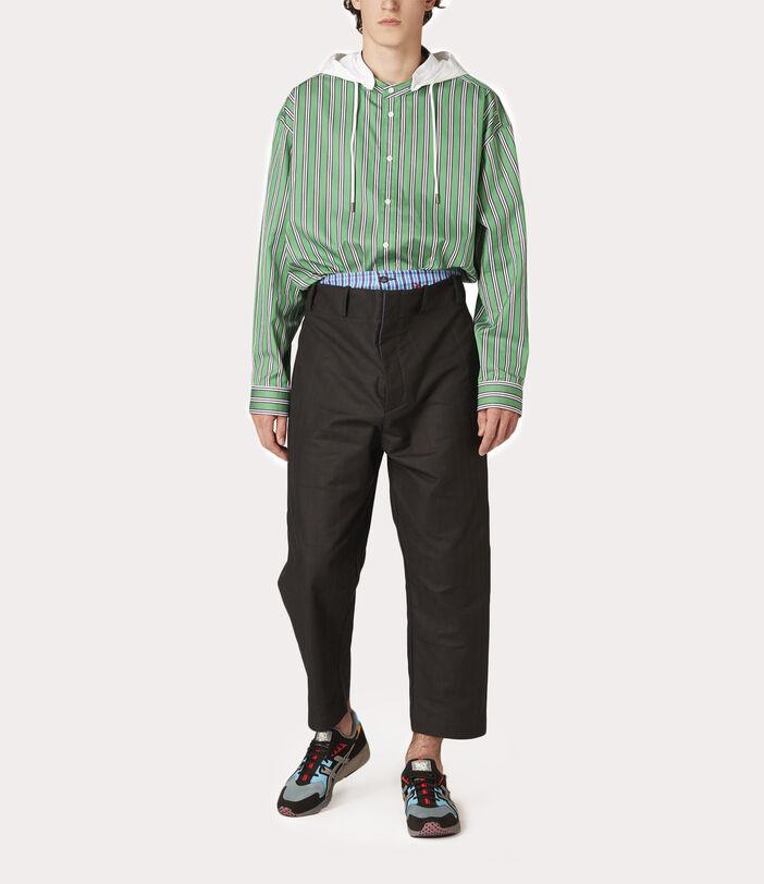 Alien Trousers Black Check Herringbone 6