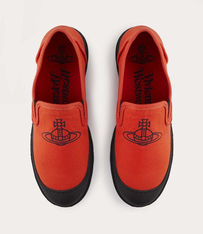 Men'S Simian Slip Ons Orange 6