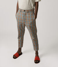 James Bond Cropped Trousers Multicolour Peasant  Check