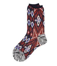 Ikat Socks Red