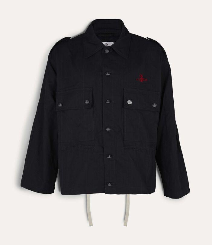 Ben Overshirt Black Check Herringbone 1