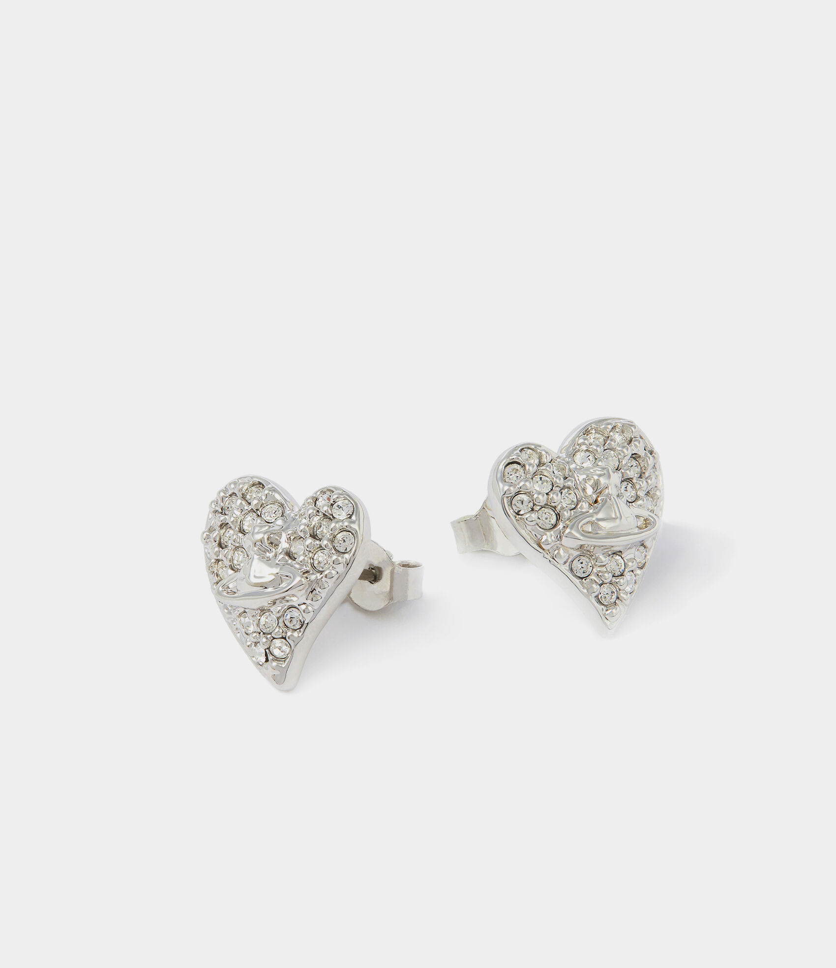 41d02910f Tiny Diamante Earrings Rhodium | Women's Earrings | Vivienne ...