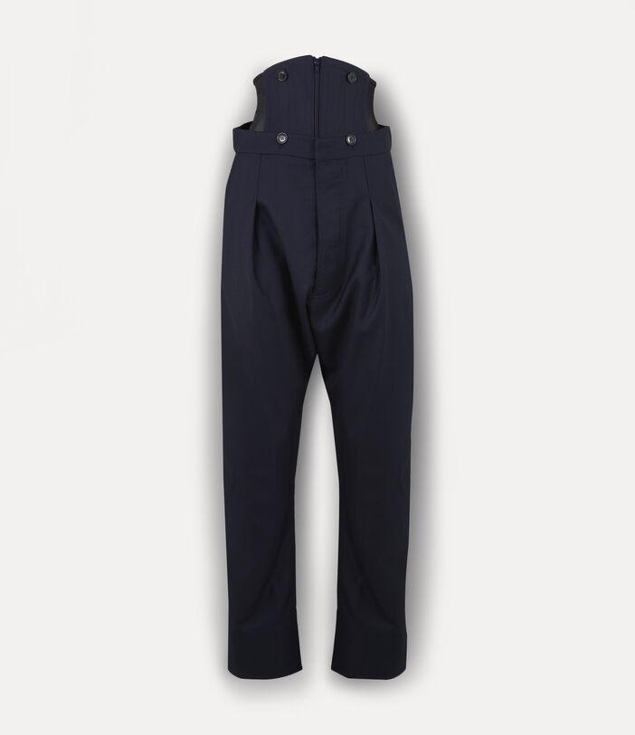 Corset Trousers Navy 1