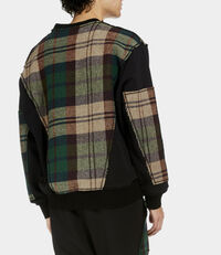 Harris Tweed Patchwork Sweater Black