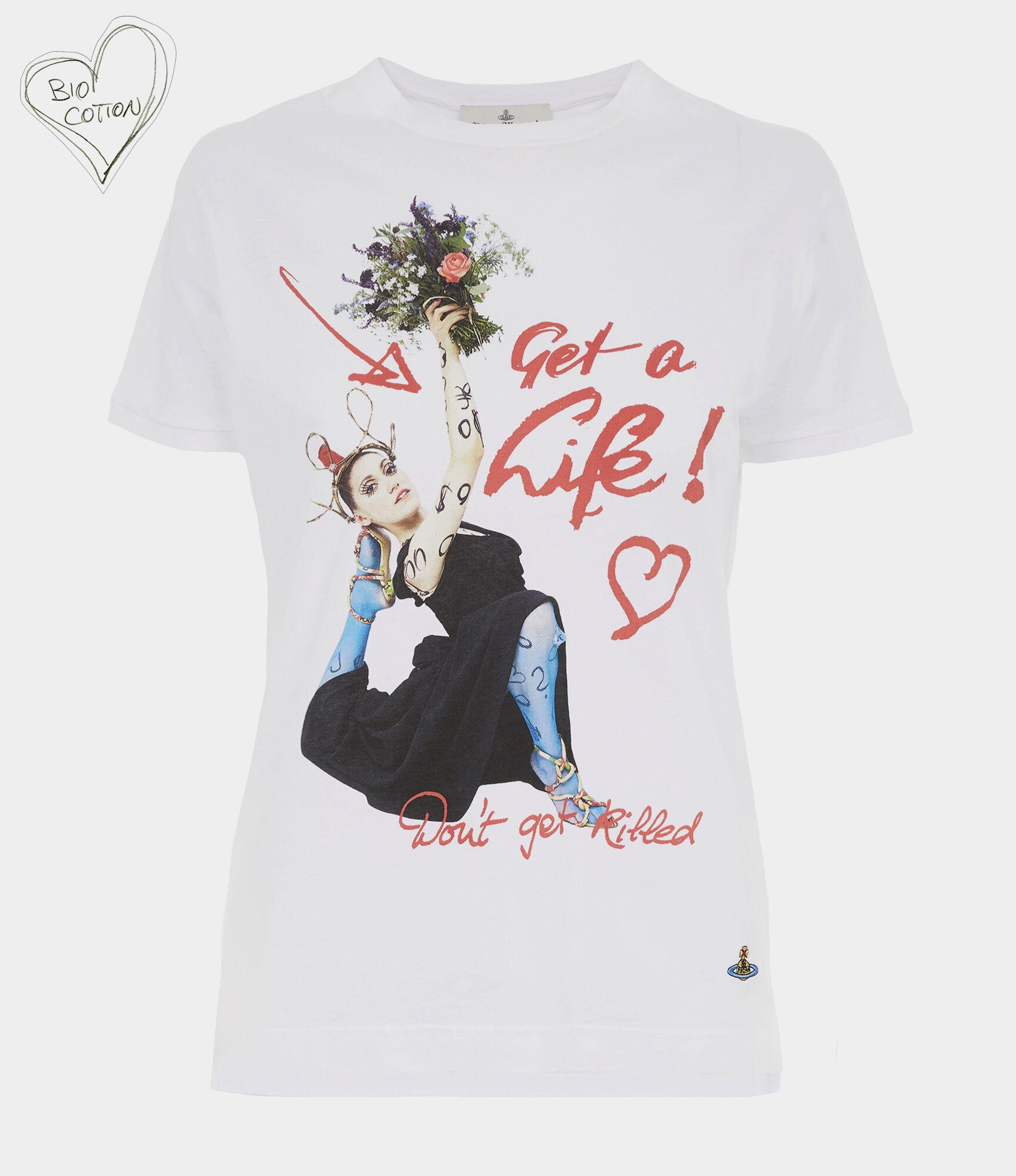 Peru Printed Organic Cotton-Jersey T-Shirt, White