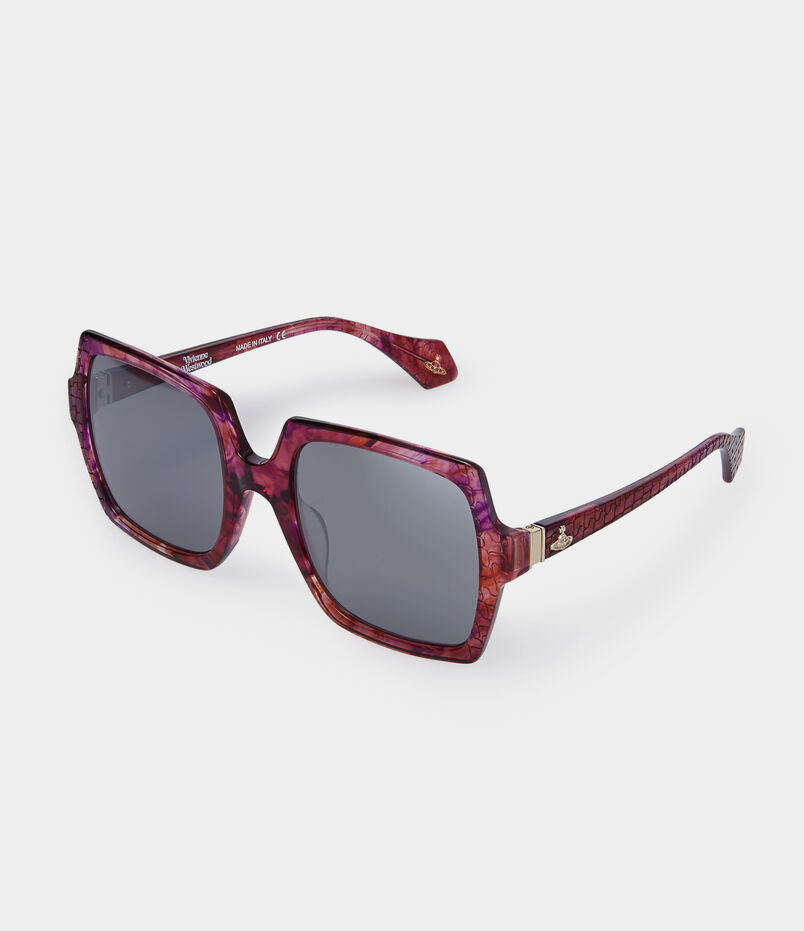 Burgundy Laser Cut Sunglasses VW933S02
