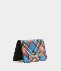 Shuka Tartan Small Credit Card Blue
