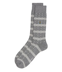 Spots And Stripes Socks Mid Grey Mix