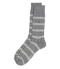 Spots And Stripes Socks Mid Grey Mix