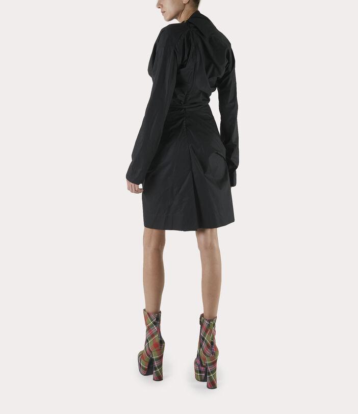 Long-Sleeve Cliff Dress Black 3