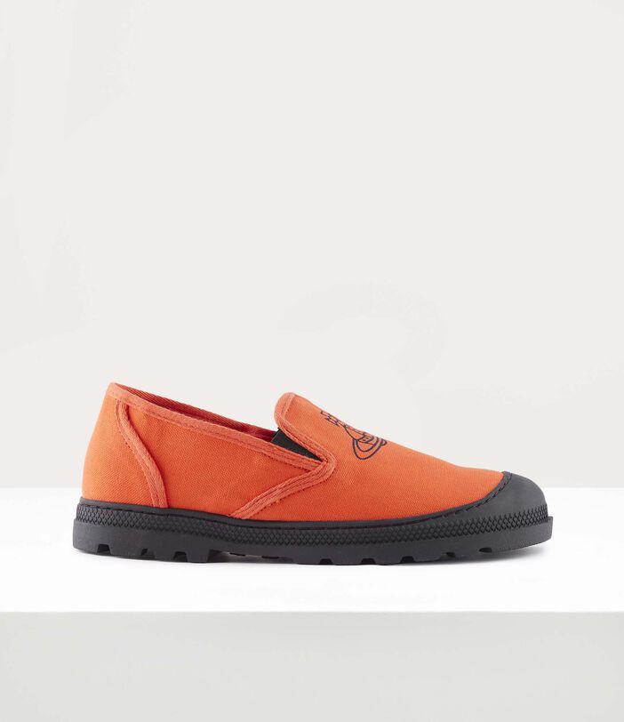 Men'S Simian Slip Ons Orange 1