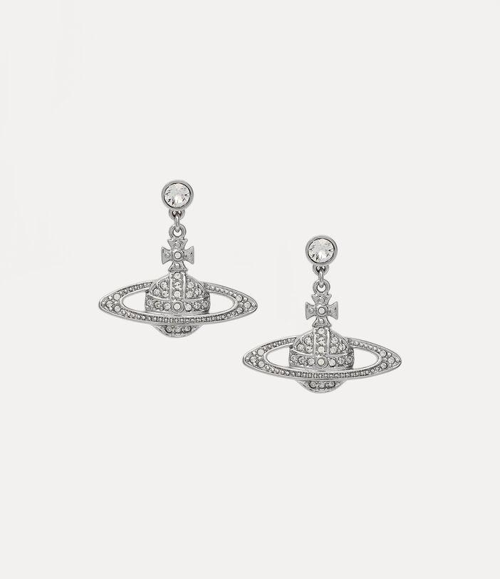 Mini Bas Relief Drop Earrings Silver-Tone 1