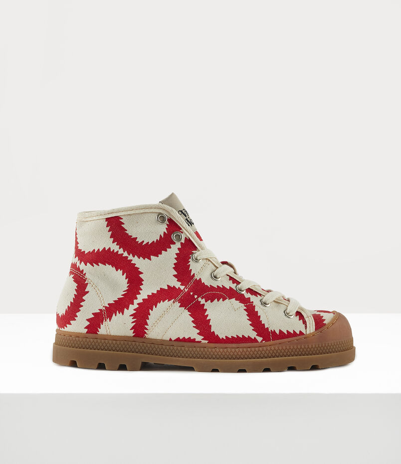 Vivienne Westwood Women'S Simian Boot Beige/Red Squiggle