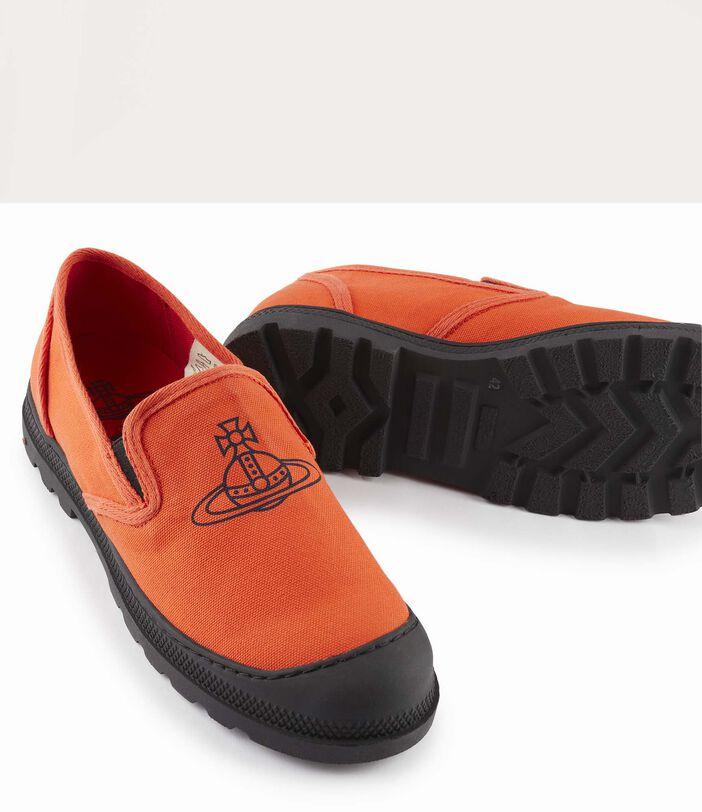 Men'S Simian Slip Ons Orange 4