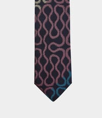 Squiggle Tie Blue/Pink