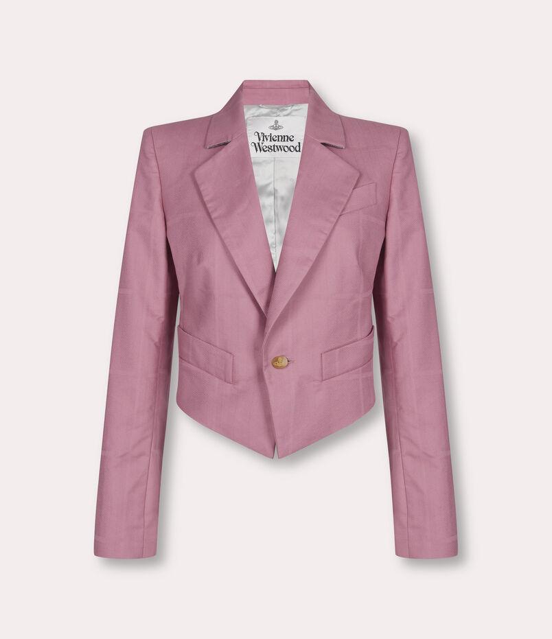 Vivienne Westwood Lou Lou Spencer Jacket Pink Check Herringbone