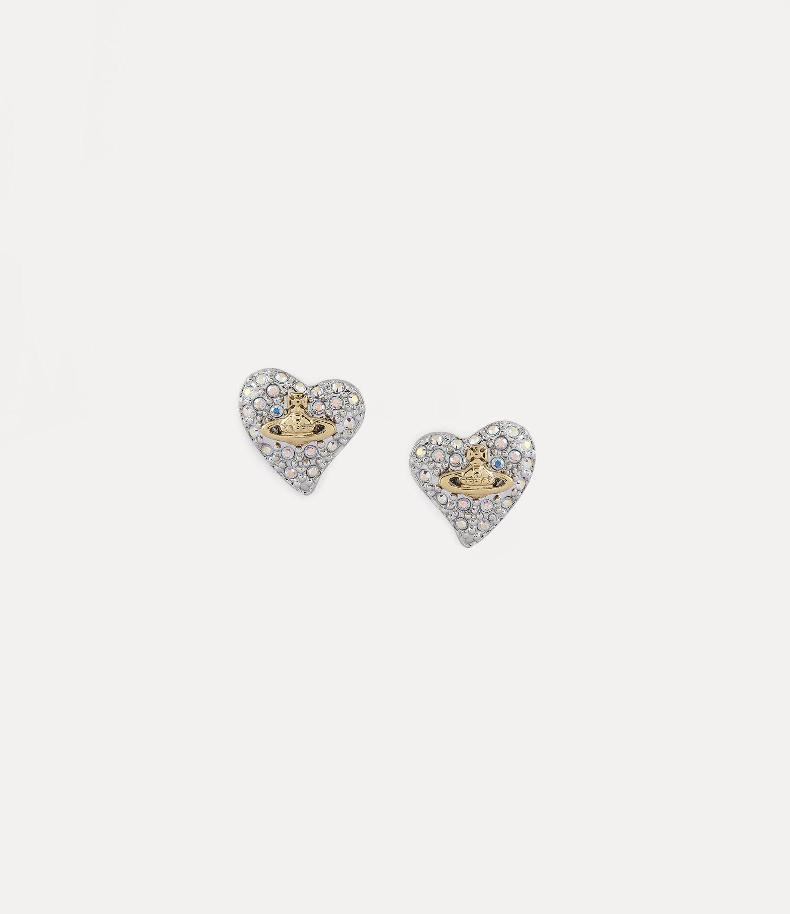 silver diamante earrings