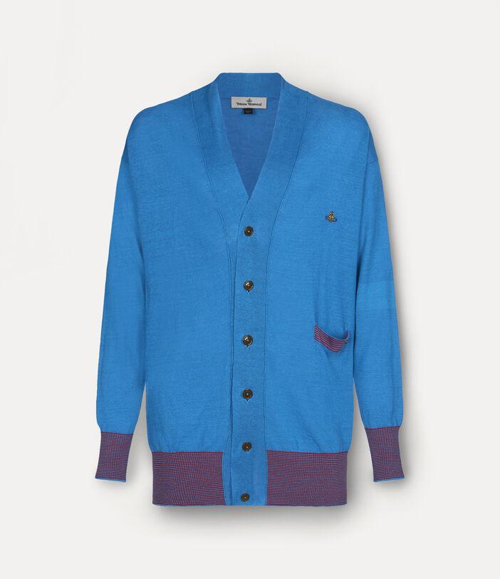 Polo Cardigan Turquoise 1