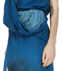 Long Hangover Dress Blue/Stains Print