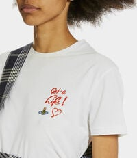 Get A Life Embroidered Peru T-shirt White