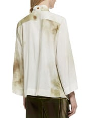 Garret Top White/Stains Print