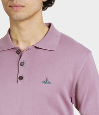 Knitted Polo Dusty Pink
