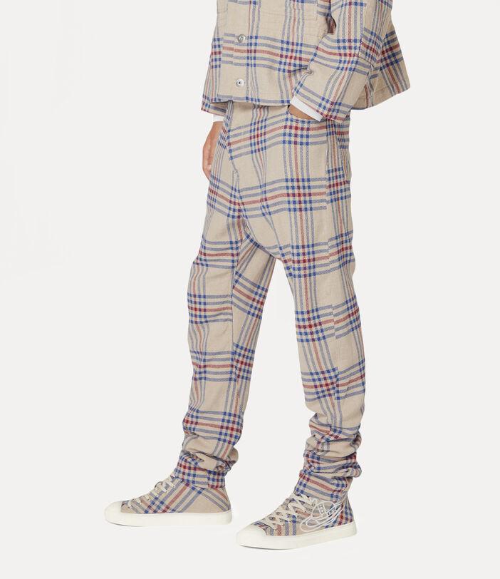 New Asymmetric Jeans Tartan 3