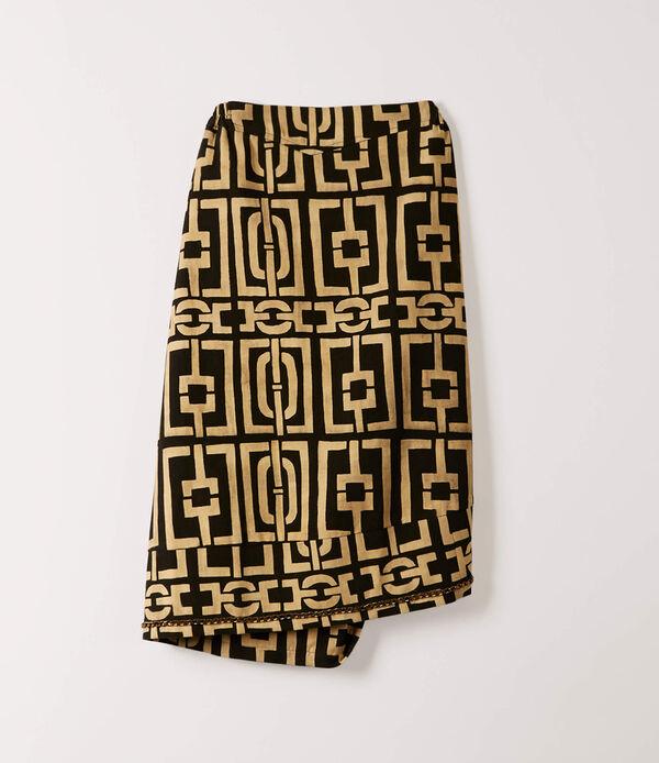 Banana Split Skirt Black/Natural