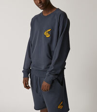 Classic Sweatshirt With Badge Anthracite