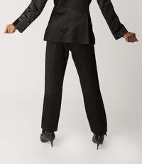 Satin James Bond Trousers Black