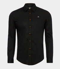 Firm One Button Shirt Black