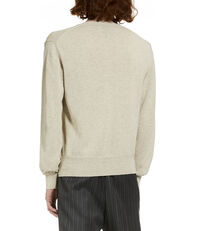 V-Neck Jumper Cream/Grey Melange