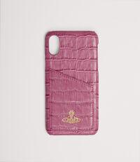 iPhone X Case With Card Fuchsia