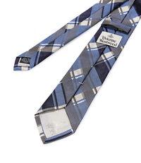 Check Jacquard Tie Blue
