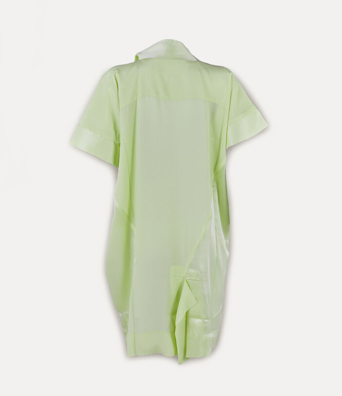 Short Sleeve Arabesque Dress Lime Cream 2