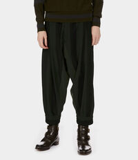 Macca Pant Black/Dark Green