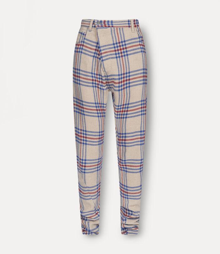 New Asymmetric Jeans Tartan 1