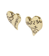 Arabella Heart Earrings Gold Plated
