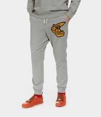 Tracksuit Bottoms with Patch Grey