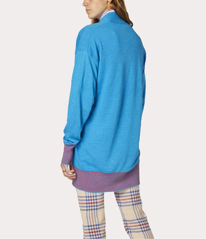 Polo Cardigan Turquoise 4