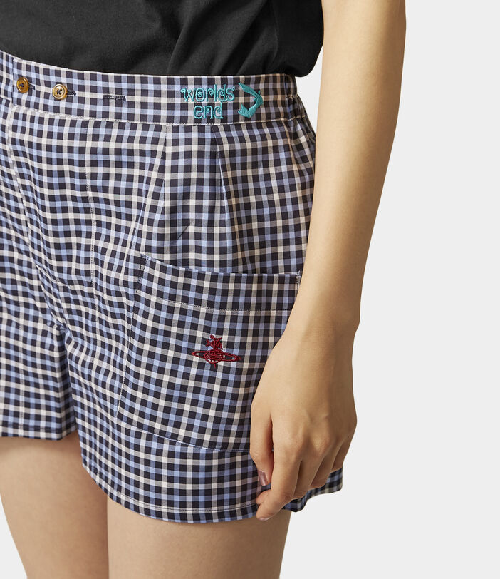 We Boxer Shorts Blue Gingham 9