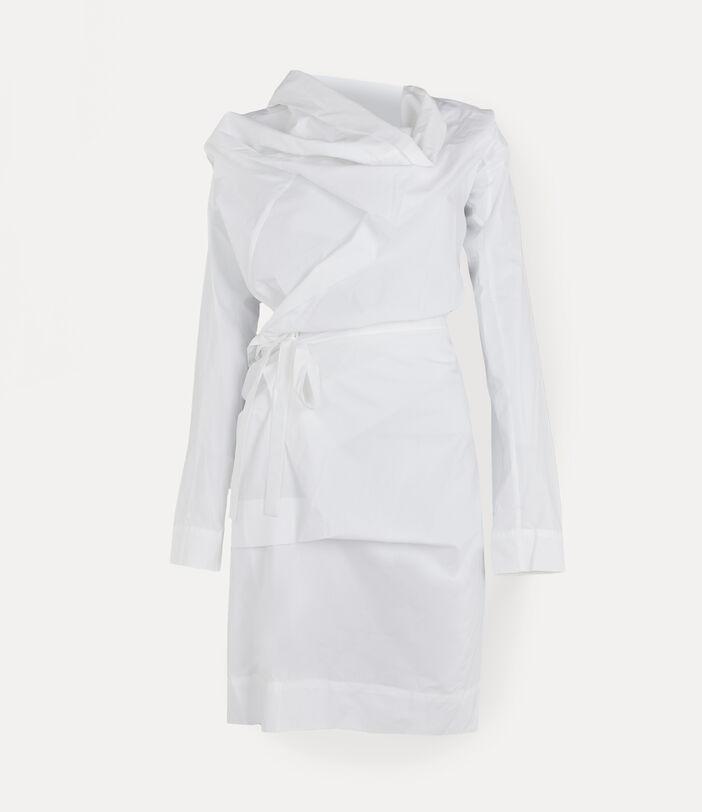 Long-Sleeve Cliff Dress White 1