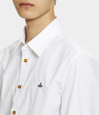 Firm One Button Shirt White