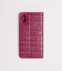 Iphone X Wallet Case With Flap Fuchsia