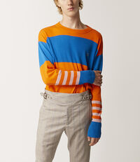 Over Turtle Orange/Bluette/Pink Stripes