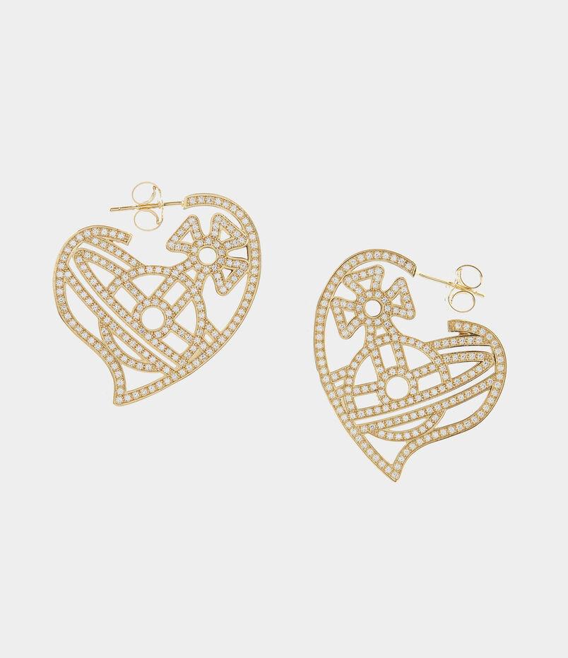 Giuseppa Hoop Earrings Gold Tone