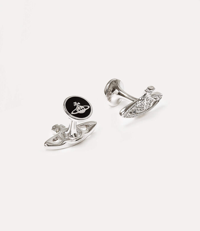 Mini Bas Relief Cufflinks Silver-Tone 2